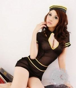 Sexy Erotic Stewardess Roll Play HL026BL Click To Enlarge