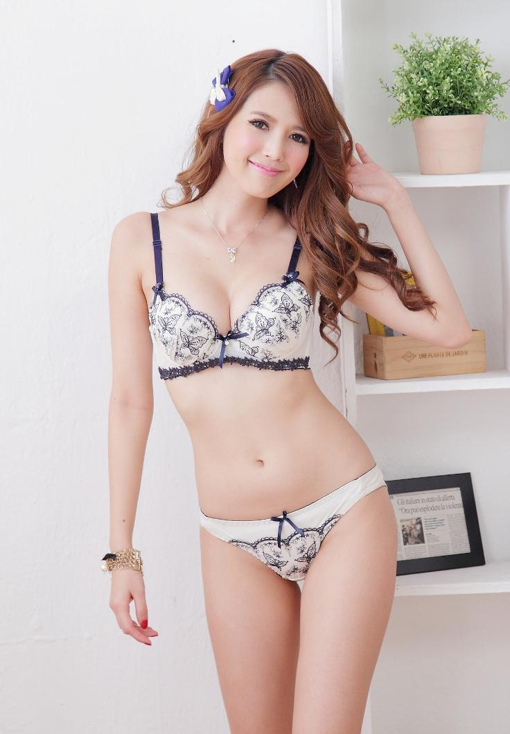Lovely Japan Push-Up Bra Set (Blue)