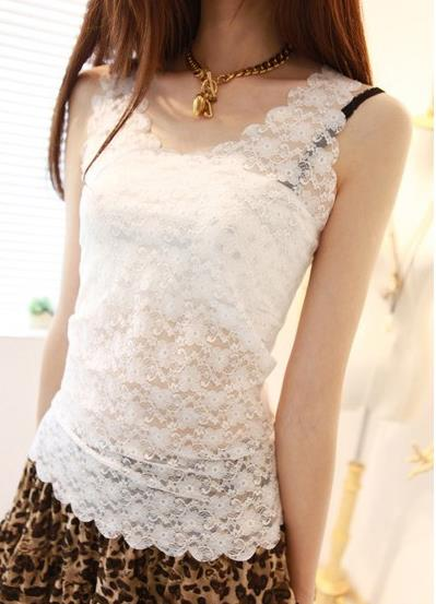 Lovely Lace Single-Layer Singlet