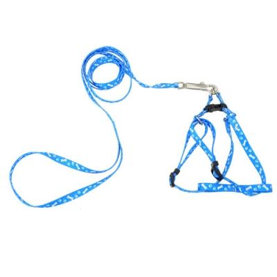 Lovely Pet Nylon Leash Harness Chest Collar Neck Lead Strap for Dog