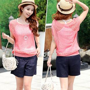 Lovely Rhombus Pattern Hollow Knit Blouse (Many Colours)