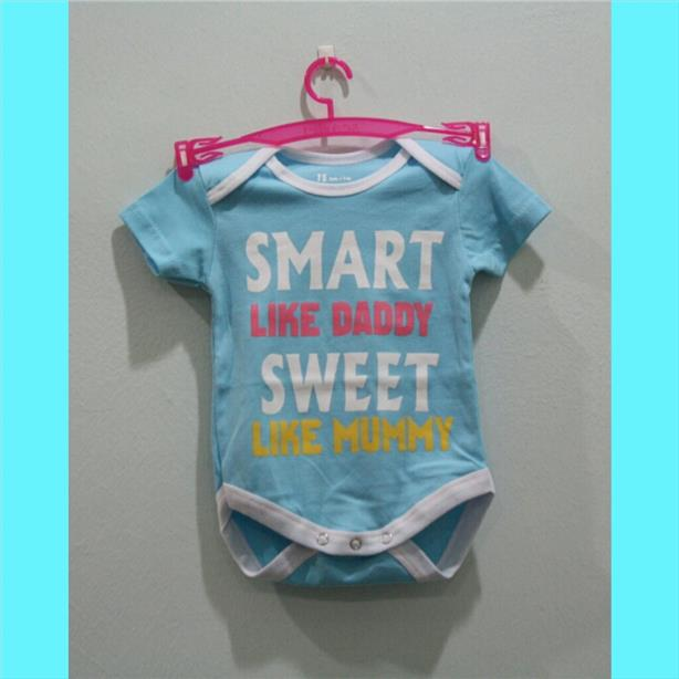 Lovely Word Baby Rompers - Smart Like Daddy Sweet Like Mummy