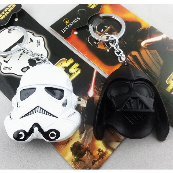 Lucasarts Star Wars 3D Darth Vader and Storm Trooper Key Chain