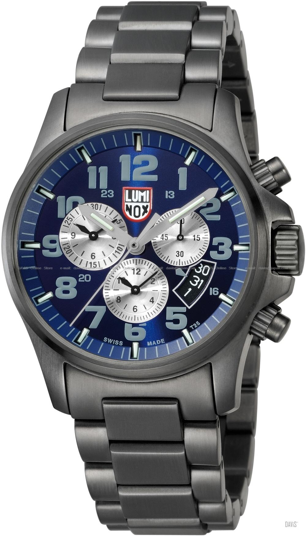 LUMINOX 1844 Atacama Field Chrono black blue/grey black IP bracelet