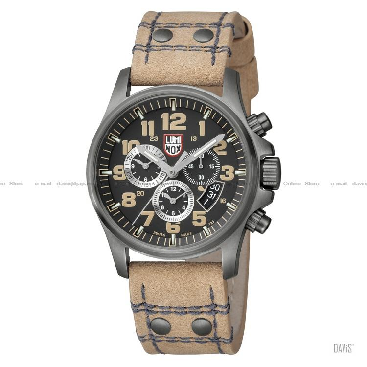 LUMINOX 1845 Atacama Field Chrono black black/tan tan leather strap