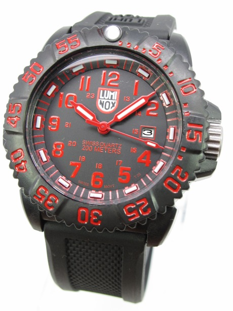 LUMINOX NAVY SEAL COLLECTION COMPLETE SET WITH BOX BLACK RED
