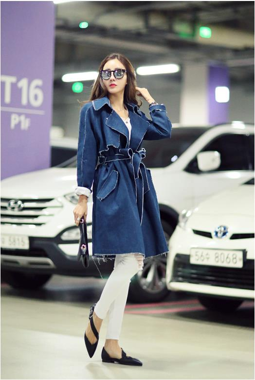 LUVVIESTYLE-Free Shipping Korea Trendy Denim Coat J80080