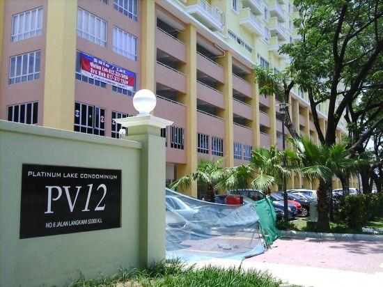 Luxury Condo Platinum Lake PV12 for sale, partly furnished, 2 car park