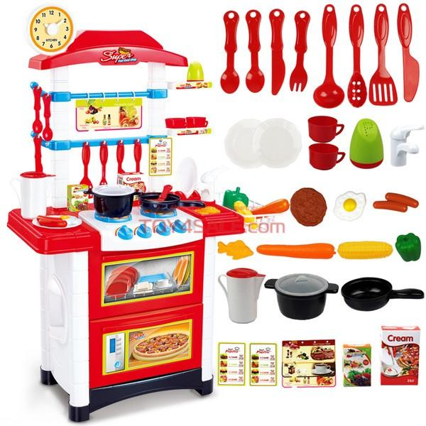 Kids luxury multifunctional kitchen playset cutlery for Kitchen set video song