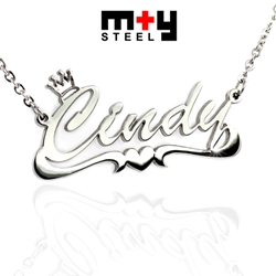M+Y STEEL Personalise Name Pendant - 107-034