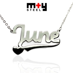 M+Y STEEL Personalise Name Pendant - 107-037