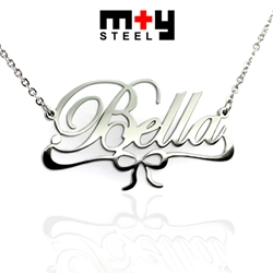 M+Y STEEL Personalise Name Pendant - 107-044