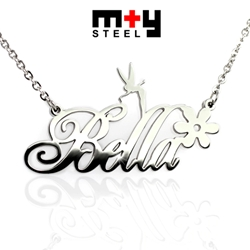 M+Y STEEL Personalise Name Pendant - 107-046