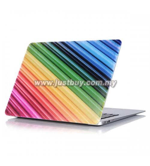 Macbook PRO Retina 13 Inch A1502/A1425 Art Case-Rainbow Stripes