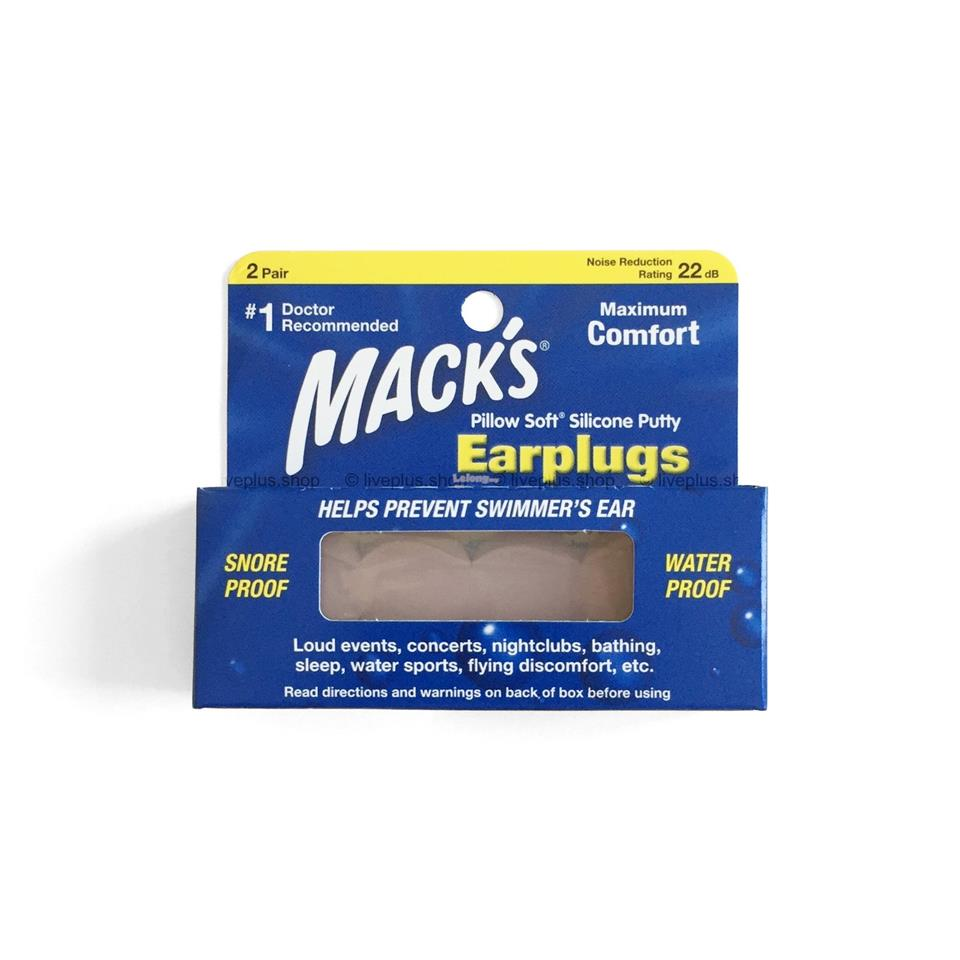 Mack's Pillow Soft Silicone Earplugs (Ear Plugs), 2 Pair, Beige