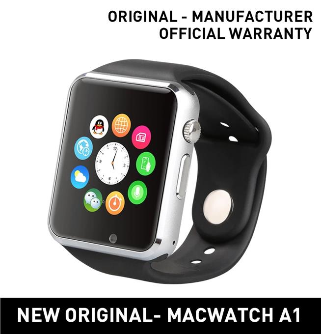 MACWATCH A1 Bluetooth Smart Watch With Pedometer Anti-lost Camera SALE