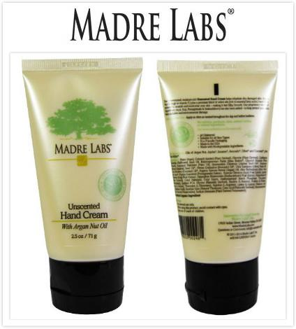Madre Labs, Hand Cream with Argan Nut Oil, Unscented (71 g)