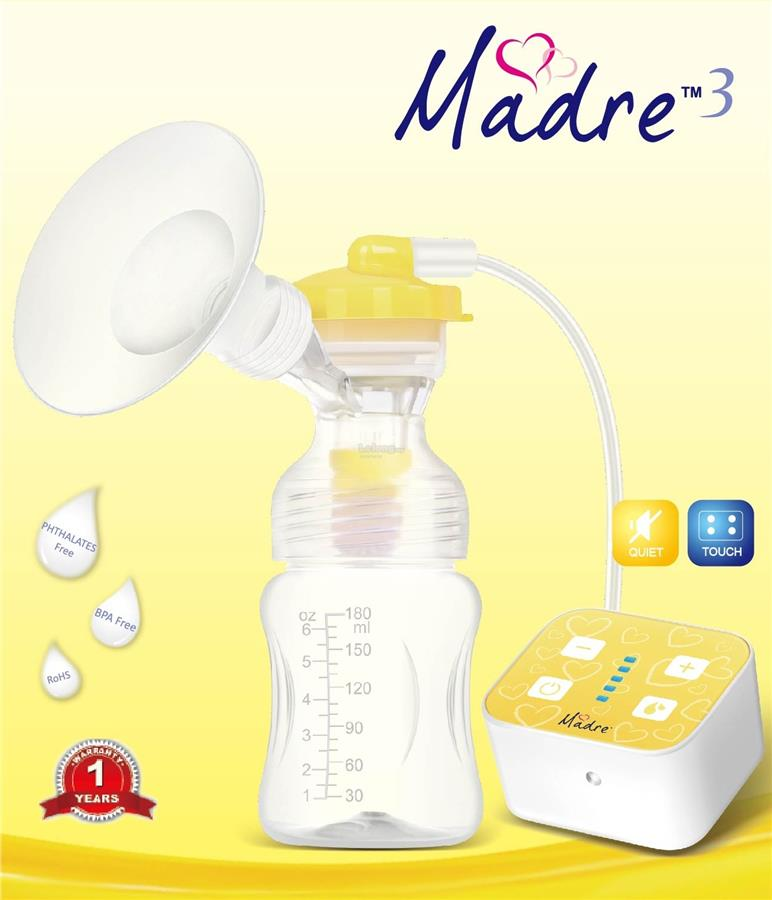 Madre3 Single Electric Breast Pump Package