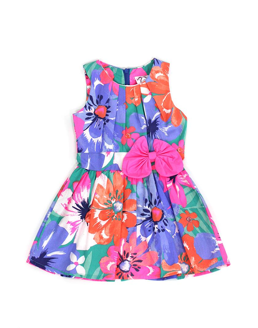 Magenta Ribbon Purple Flora Dress