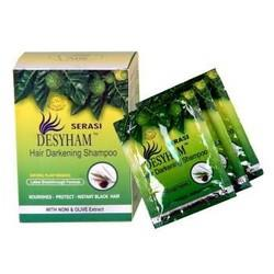 NEW Magic Hair Shampoo -Desyham NONI + OLIVE  A Box of 5packet