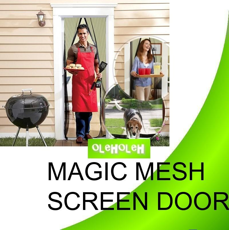 Magic Mesh Screen Door Keep Fresh Air In and Bugs Out