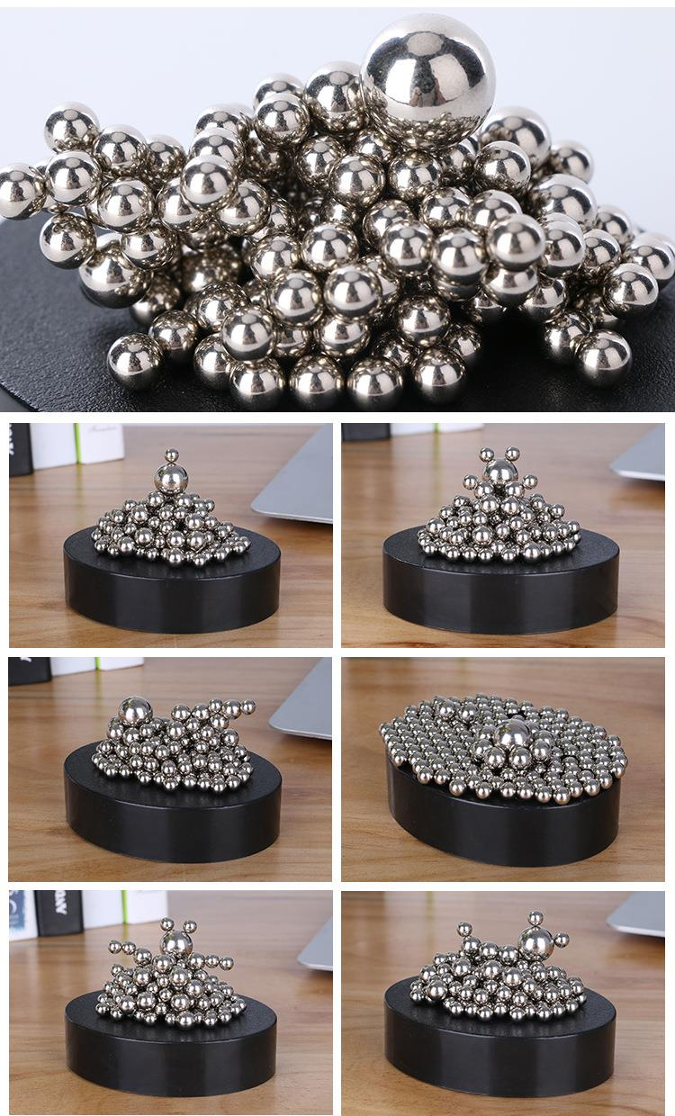 Magnectic DIY Metal Balls Sculpture