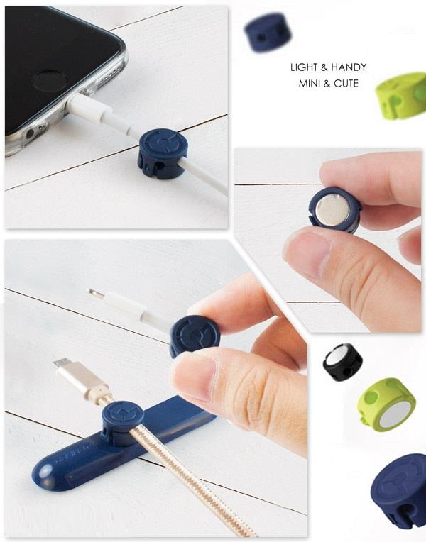 Magnetic Cable Clips Holder