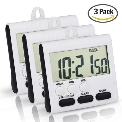 Magnetic Digital Timer 24 Hours Clock with Loud Alarm and Big Screen