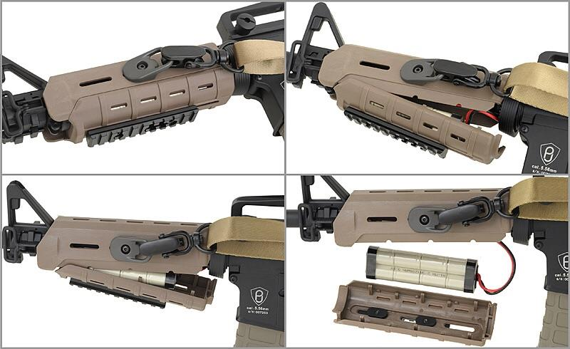 "MAGPUL PTS MOE 7"" HANDGUARD WITH RAILS TAN"