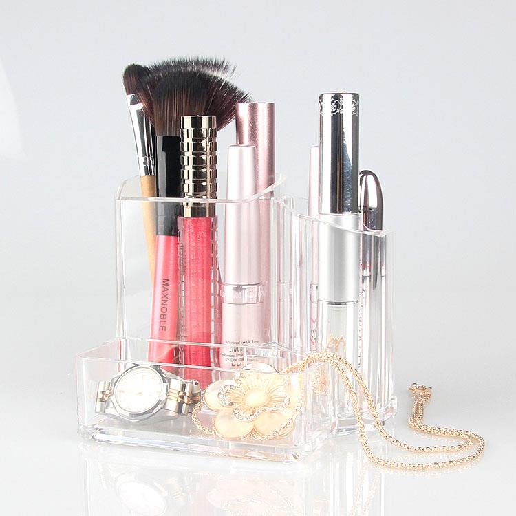 Makeup-tools Acrylic Storage Pot Cosmetic Organizer Storage Box