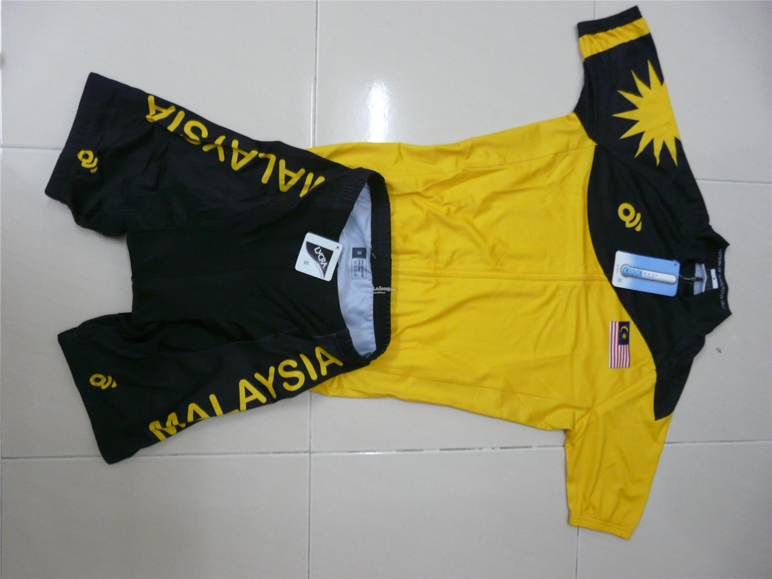 Malaysia Commonwealth Bicycle Top Jerseys Size XXXL (Clearance)