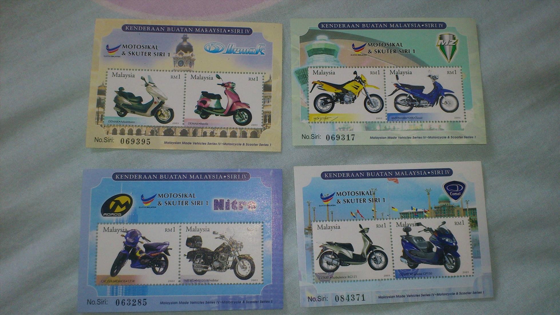 Malaysia Made Vehicles - Motosikal & Skuter, Motorcycle & Scooter Set