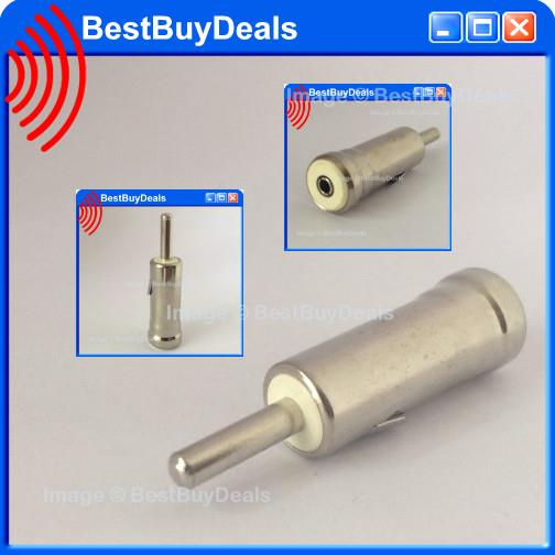 Male Car AM/FM Radio ISO Plug to DIN Aerial Antenna Plug Adapter Conne