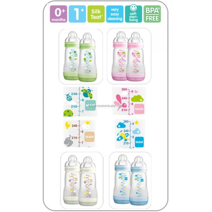MAM Anti-colic 260ml Twin Pack