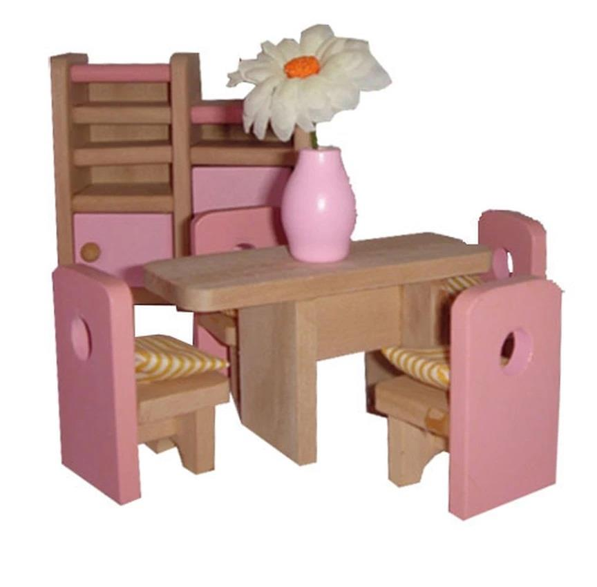 Mamakiddies pink wooden doll house f end pm