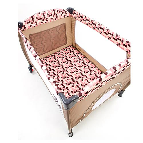 Mamakiddies Portable Travel Cot Baby Playpen Playard Pink Dot