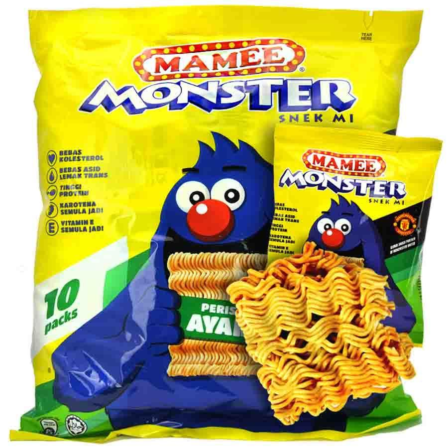 Mamee Monster Snack Chicken Flavor 25g X 20 packs