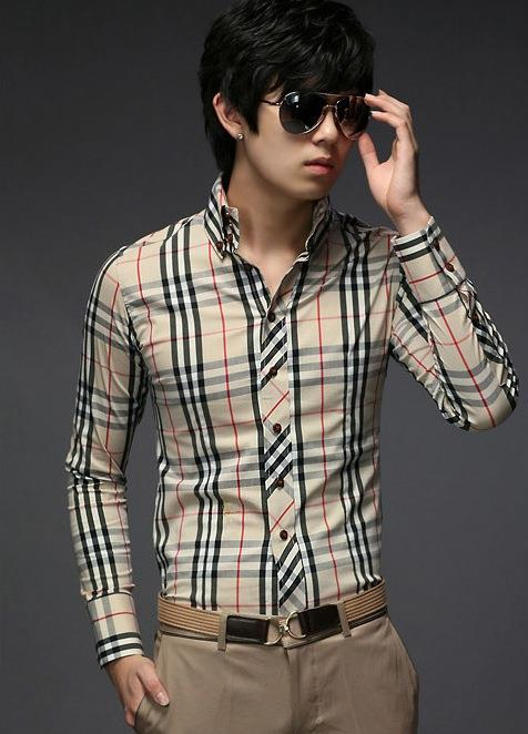 MAN 6645 KOREA CASUAL COLAR LONG SLEEVE MEN SHIRT BAJU LELAKI