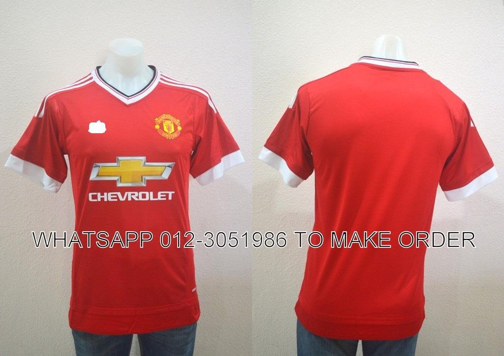 Man Utd Home 2015/2016 PI Player Adizer0 Jersey/Jersi