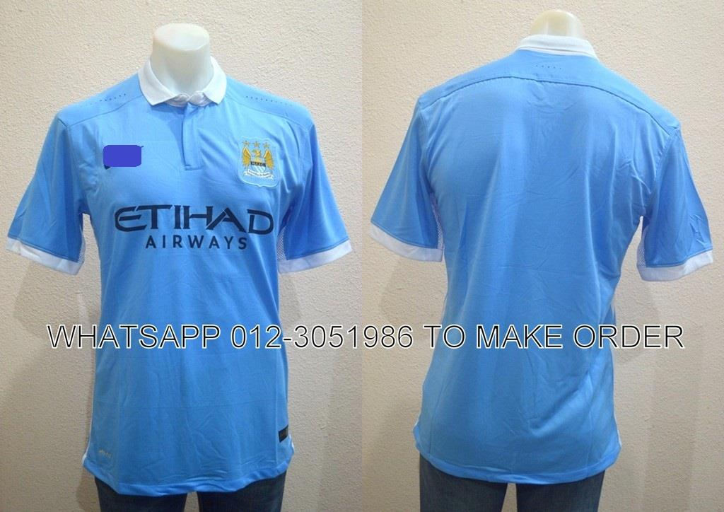 Manchester City Home 2015/2016 PI Player Jersey/Jersi