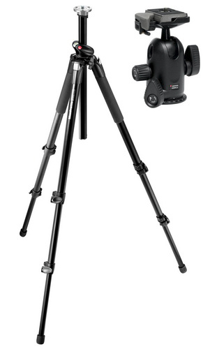 Manfrotto 055XProB Pro Tripod + 498RC2 Midi Ball Head- Free Shipping!!