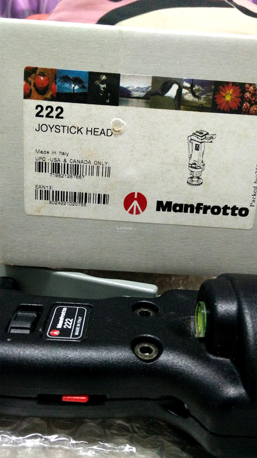 Manfrotto 222 Joystick Action Grip Ball Head