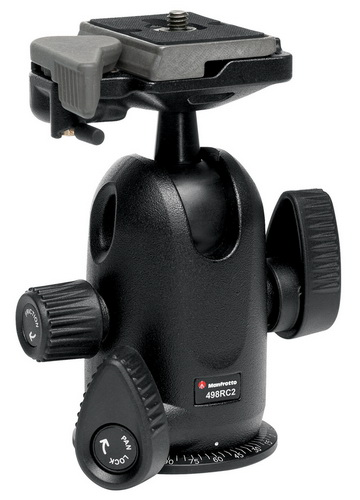 Manfrotto 498RC2 Midi Ball Head With RC2 Quick Release- Free Shipping!