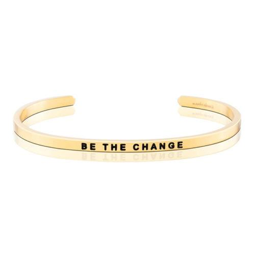 MantraBand Be The Change Gold Bracelet