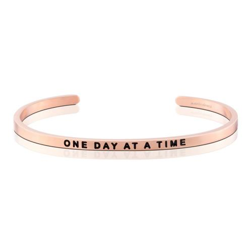 MantraBand One Day At A Time Rose Gold Bracelet