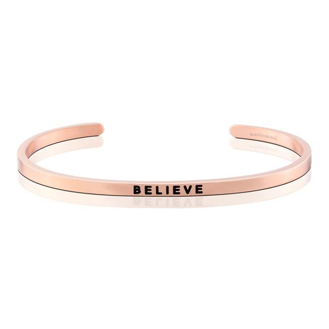 MantraBand Believe Rose Gold Bracelet