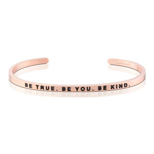 MantraBand Be True. Be You. Be Kind. Rose Gold Bracelet