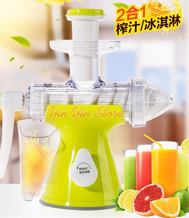 Manual Slow Juicer Ice Cream Maker : Manual 2 in 1 Fruit Juice Extractor (end 2/13/2018 4:12 PM)
