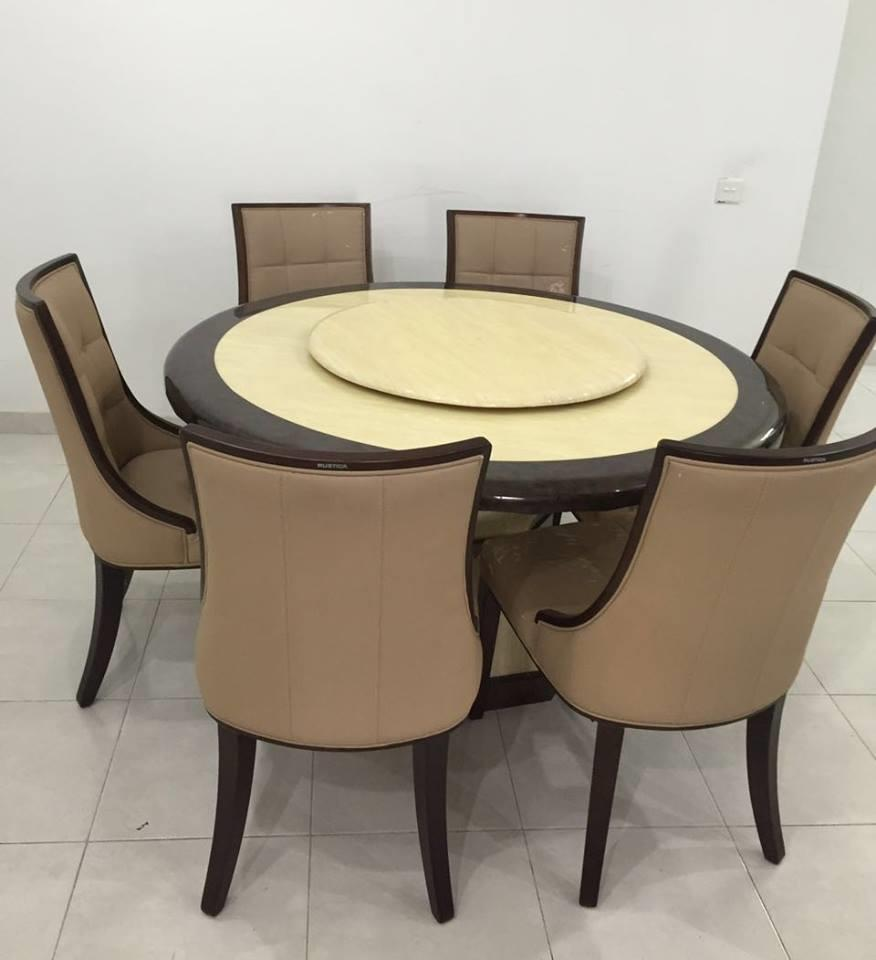 Marble dining table 6 chairs marble dining table with 6 for Best dining table 2017
