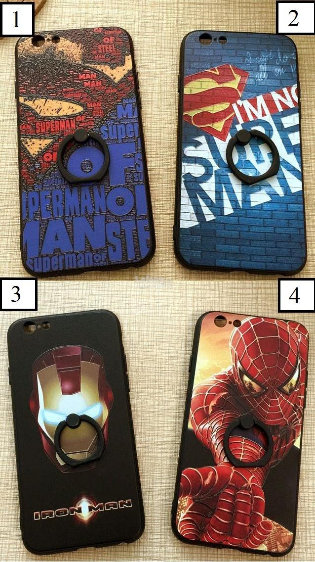 Marvel Superheroes Apple Iphone Case Back Cover Ring Grip 7 7 Plus